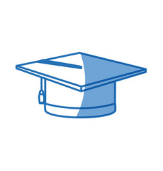 Cap for a costume graduate uniform vector