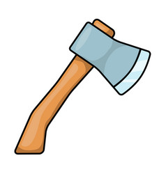 cartoon ax hatchet symbol icon design vector image