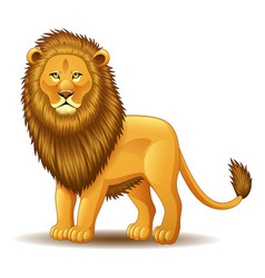 cartoon lion king isolated on white background vector image