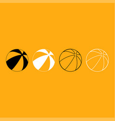 childrens ball it is white icon vector image