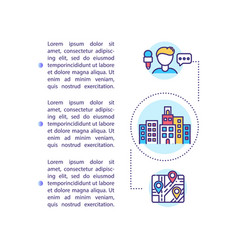 City tours concept icon with text vector