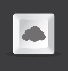 cloud key computer vector image