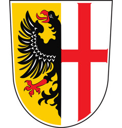 Coat of arms of memmingen in swabia in bavaria vector