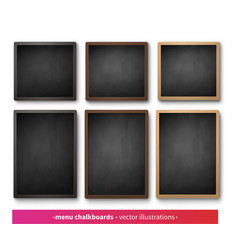 Collection menu boards vector