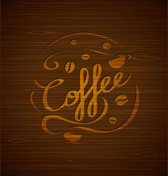Composition with coffee and coffee cups vector