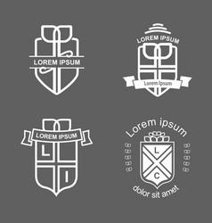 Crest logotypes vector