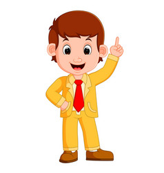 Cute businessman cartoon vector