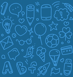 Different web interface silhouettes doodle clip-ar vector