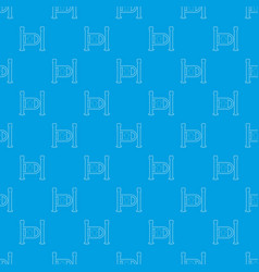 fencing system pattern seamless blue vector image