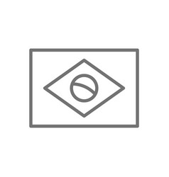 flag brazil line icon vector image