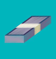 flat shading style icon bundle of money vector image