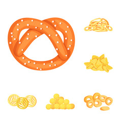 Food and crunchy sign set vector
