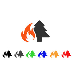 forest fire icon vector image