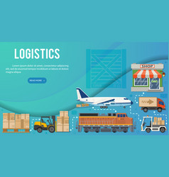 freight transport and logistics banner vector image