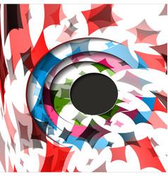Futuristic hexagon hexagon hud vector