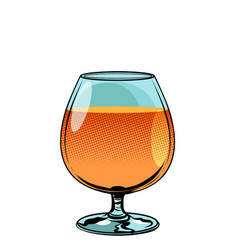 Glass of cognac brandy vector