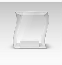 Glass showcase in wave form for presentation vector