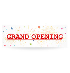Grand opening banner with confetti vector