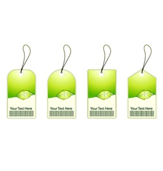 green shopping tags set vector image
