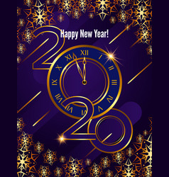 greeting card 2020 happy new year modern vector image