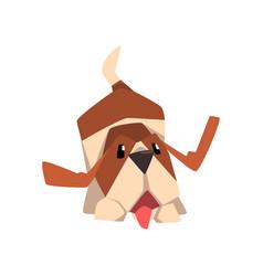 happy beagle dog animal cartoon character vector image