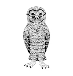 Hipster owl vector image