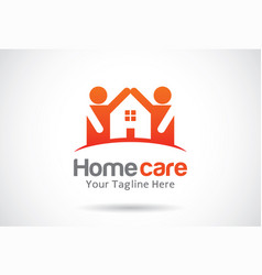 Home care logo template design emblem design vector