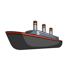 huge cargo black linership for transportation of vector image