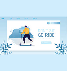 Landing page with go ride inspiration for people vector