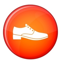 Men shoe icon flat style vector image