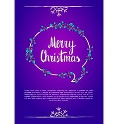 Merry christmas Calligraphy clip-art vector image