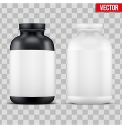 Mockup Sport Vitamin Container vector
