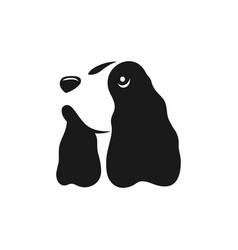 modern dog english cocker spaniel logo vector image