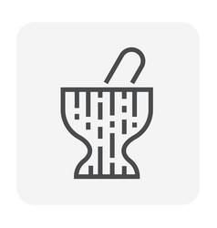 mortar icon black vector image