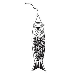 Paper koi is a japanese carp stands for good vector