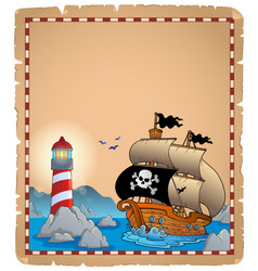 Pirate theme parchment 3 vector
