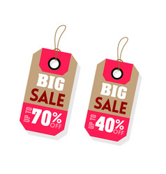Price tag big sale up to 70 40 off image vector
