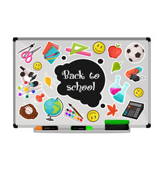school white board vector image