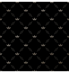 Seamless gold pattern with king crowns vector