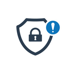 security icon with exclamation mark vector image