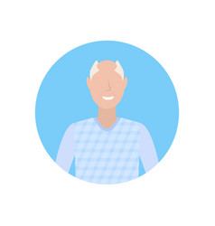 senior man happy grandfather face avatar male vector image