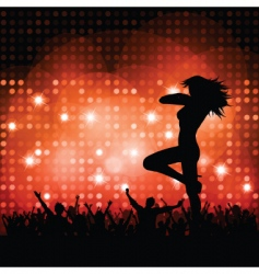 sexy female with crowd vector image