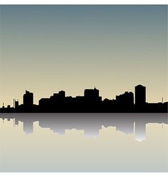 skyline-dusk vector image