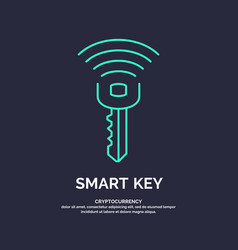 smart key global digital technologies vector image