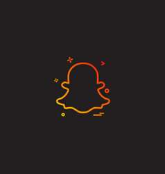 snapchat icon design vector image