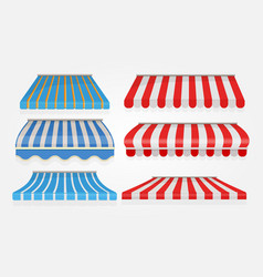stripe tent shopping or restaurant window canopy vector image