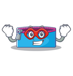 Super hero pencil case character cartoon vector