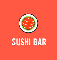 sushi bar logo vector image