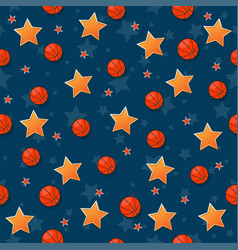 The seamless pattern on the basketball theme vector