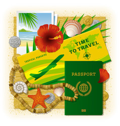 time to travel concept vacation in tropics vector image
